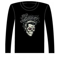 Pánské tričko s dlouhým rukávem - Greaser