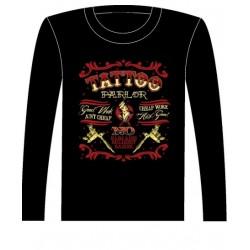 Pánské tričko s dlouhým rukávem - Tattoo Parlor
