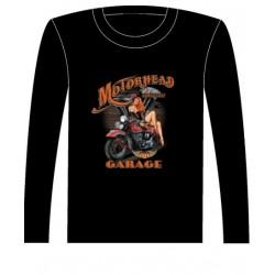 Pánské tričko s dlouhým rukávem - Motorhead Garage