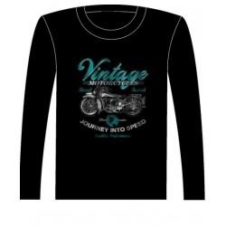 Pánské tričko s dlouhým rukávem - Vintage