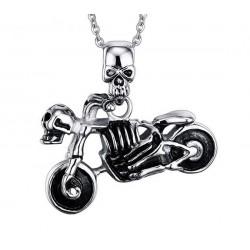 Ocelový přívěsek - Skeleton Biker