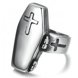 Prsten z chirurgické oceli - Rakev