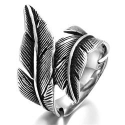 Prsten z chirurgické oceli - Pírka