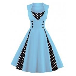 Dámské retro šaty - Vintage Sky Blue