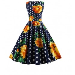 Dámské retro šaty - Flowers