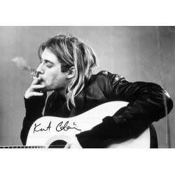 Vlajka na zeď s kapelou - Kurt Cobain