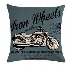 Povlak na polštář - Iron Wheels