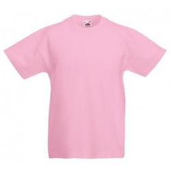 Dětské tričko Fruit Of The Loom - Světle růžové