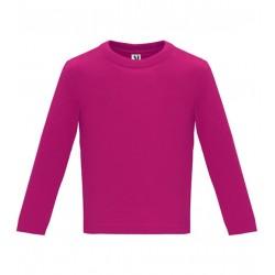 Dětské tričko s dlouhým rukávem 6M-24M - Růžové