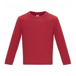 Dětské tričko s dlouhým rukávem 6M-24M - Červené