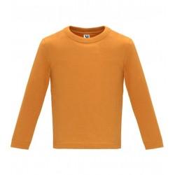 Dětské tričko s dlouhým rukávem 6M-24M - Oranžové
