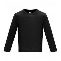Dětské tričko s dlouhým rukávem 6M-24M - Černé