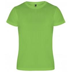 Dětské sportovní tričko bez potisku Roly - Limetkové