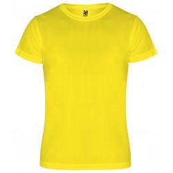 Dětské sportovní tričko bez potisku Roly - Žluté