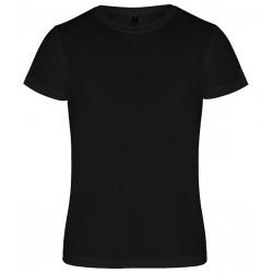 Dětské sportovní tričko bez potisku Roly - Černé