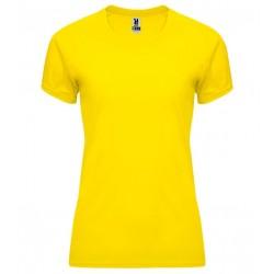 Dámské fitness tričko bez potisku Roly - Žluté