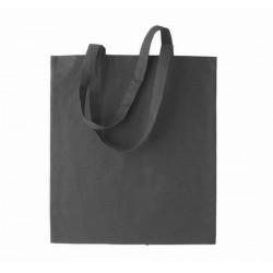 Bavlněná taška bez potisku - Tmavě šedá