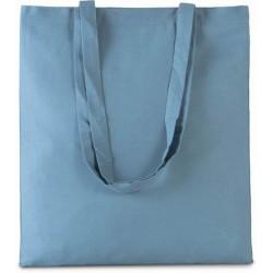 Bavlněná taška bez potisku - Delfínově modrá