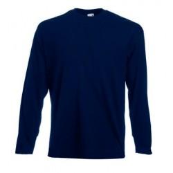 Pánské tričko s dlouhým rukávem bez potisku - Tmavě modré