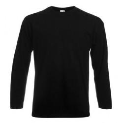 Pánské tričko s dlouhým rukávem bez potisku - Černé