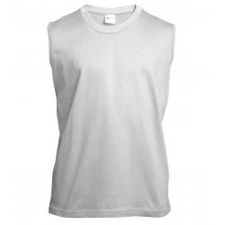 Pánské tričko bez rukávů a potisku XFer - Bílé