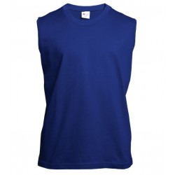 Pánské tričko bez rukávů a potisku XFer - Modré