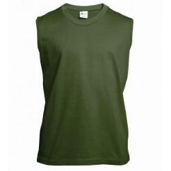 Pánské tričko bez rukávů a potisku XFer - Olivové