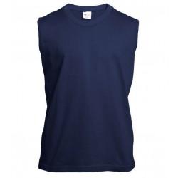 Pánské tričko bez rukávů a potisku XFer - Tmavě modré