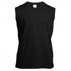 Pánské tričko bez rukávů a potisku XFer - Černé