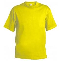 Pánské silnější tričko bez potisku - Žluté