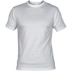Pánské silnější tričko bez potisku - Bílé