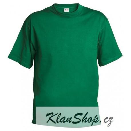 Pánské silnější tričko bez potisku - Zelené