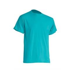 Pánské silnější tričko bez potisku - Tyrkysové