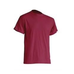 Pánské silnější tričko bez potisku - Vínové