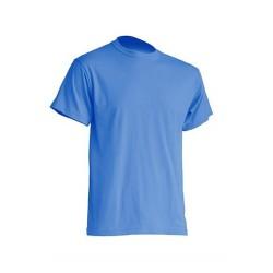 Pánské silnější tričko bez potisku - Azurové