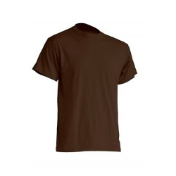 Pánské silnější tričko bez potisku - Čokoládové