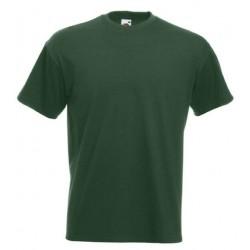 Pánské silné tričko bez potisku - Tmavě zelené