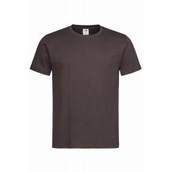 Pánské tričko bez potisku - Čokoládové