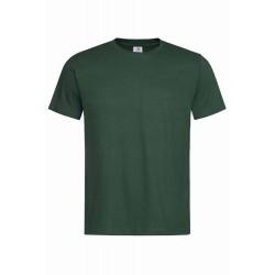 Pánské tričko bez potisku - Tmavě zelené
