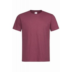 Pánské tričko bez potisku - Vínové