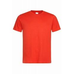 Pánské tričko bez potisku - Tmavě oranžové