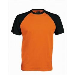 Pánské tričko bez potisku - Oranžové