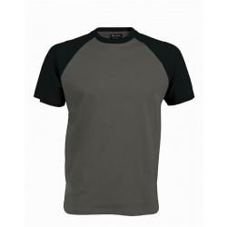 Pánské tričko bez potisku - Tmavě šedé