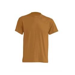 Lehké tričko bez potisku - Hnědé