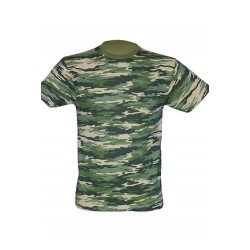 Lehké tričko bez potisku - Maskáčové