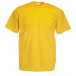 Tričko Fruit Of The Loom bez potisku - Žluté