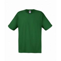 Lehčí tričko Fruit Of The Loom bez potisku - Tmavě zelené