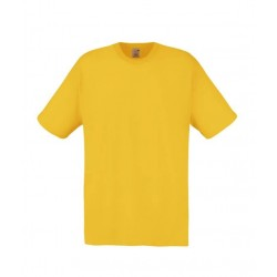 Lehčí tričko Fruit Of The Loom bez potisku - Žluté