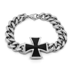 Náramek z chirurgické oceli - Chopper kříž