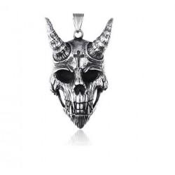 Ocelový přívěsek - Satan lebka